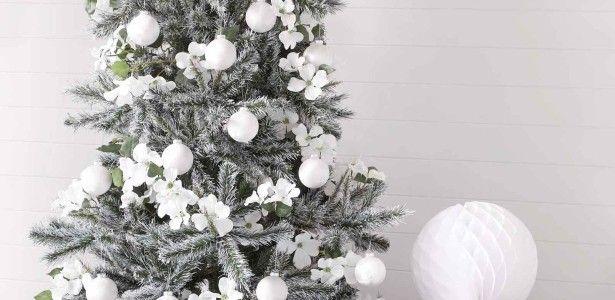 Addobbi Natalizi Bianchi.Addobbi Natalizi 2015 2016 Alberi Di Natale Bianchi Addobbo Decorazioni Albero Di Natale