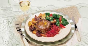Orange Pork Chop with Rhubarb Compote
