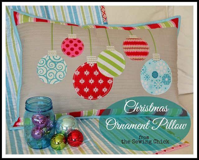 the sewing chick christmas ornament pillow tutorial quilts geschenke n hen weihnachten. Black Bedroom Furniture Sets. Home Design Ideas