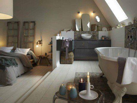 Tout savoir sur la salle de bains ouverte sur la chambre | salle ...