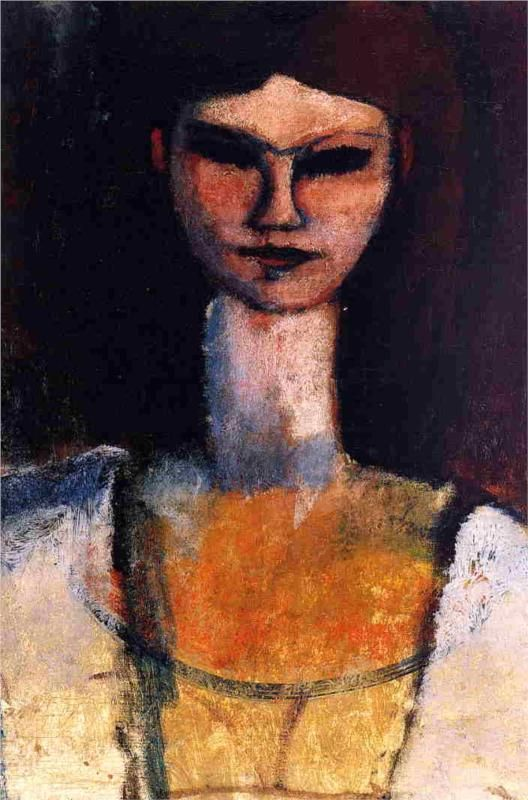 Bust of a Young Woman - Amedeo Modigliani