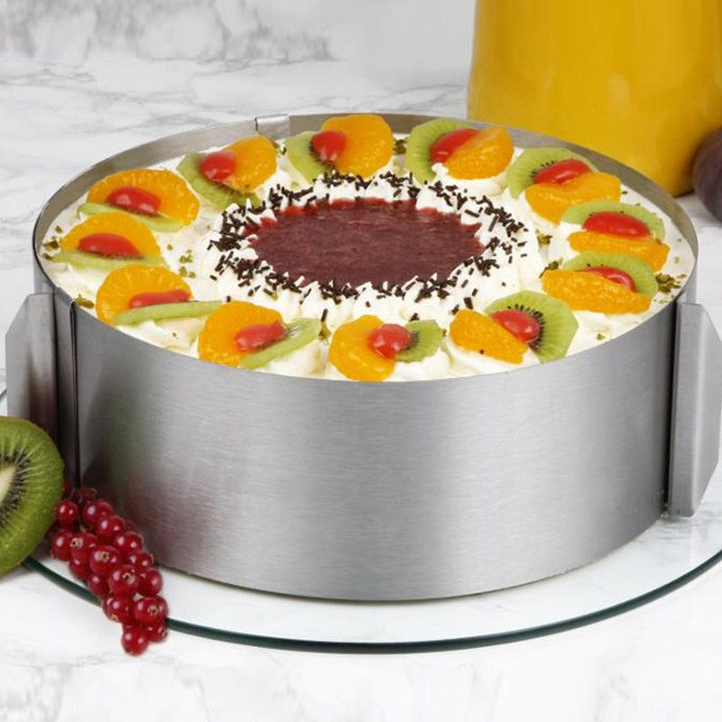 High Quality Retractable Stainless Steel Circle Mousse Ring Baking ...