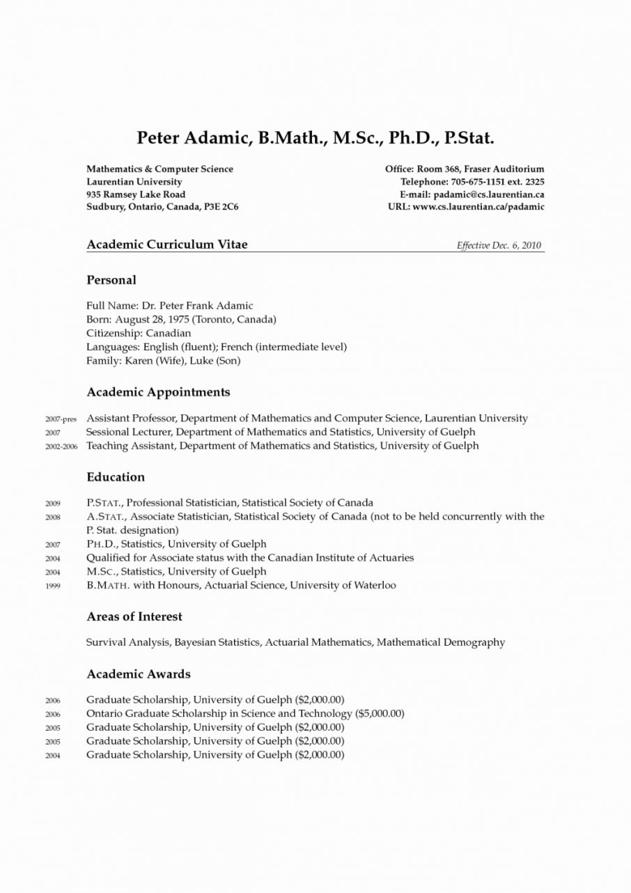 phd in computer science example of cv