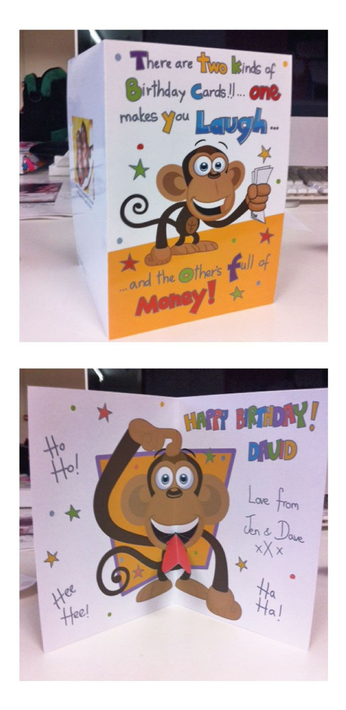 Monkey Pop Up Birthday Card For My Brother