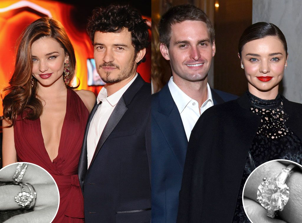 Miranda Kerr S New And Old Engagement Rings A Comparison