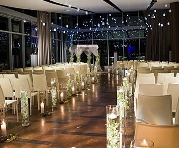 Such A Great Decoration Idea For An Indoor Night Time Wedding