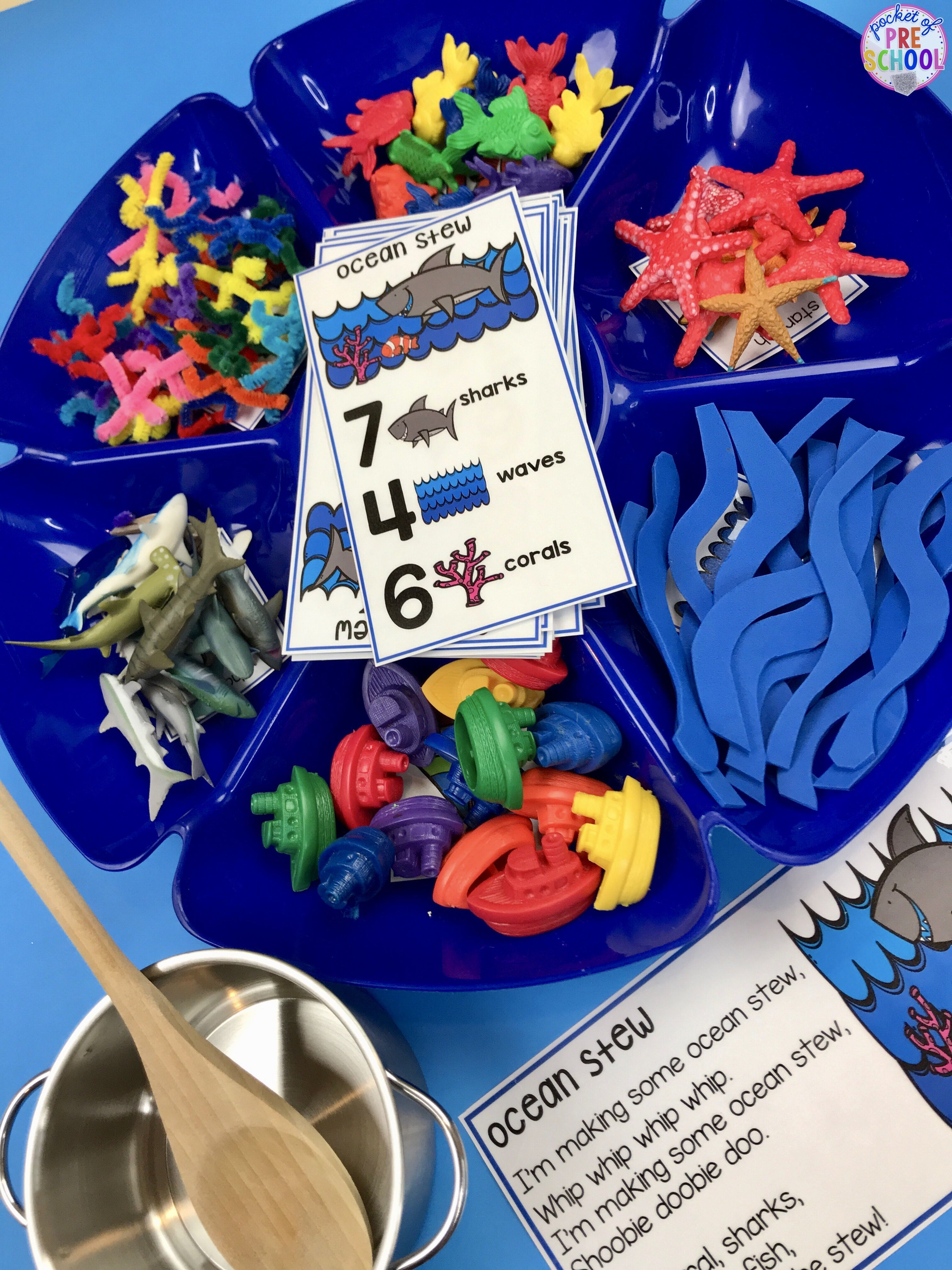 Ocean Counting Stew A Fun Game For Preschool Pre K And Kindergarten To Practice Counting