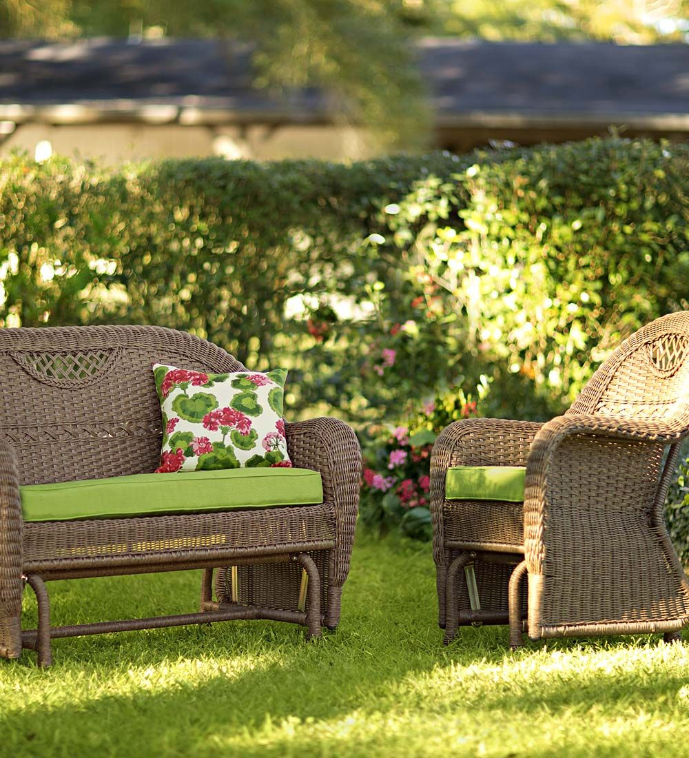 Prospect hill wicker gliders weatherproof wicker furniture outdoor wicker wicker gliders