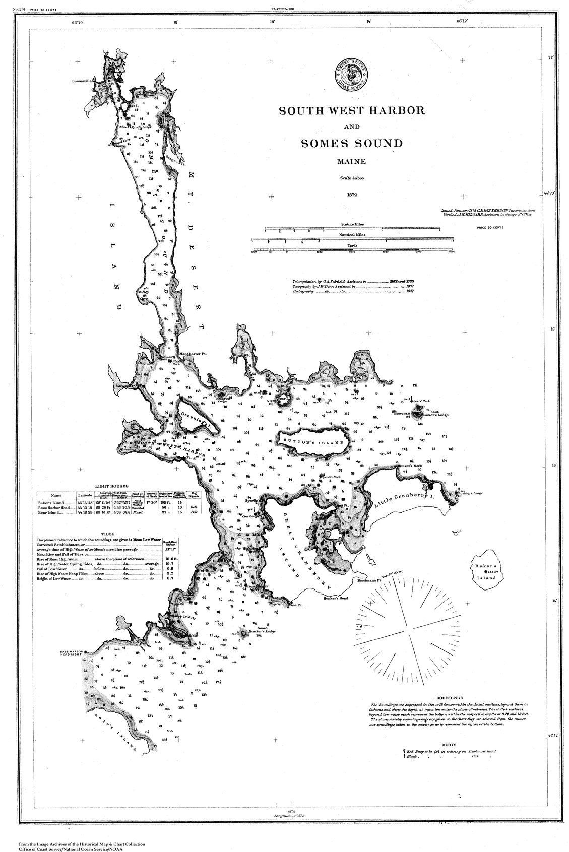 18 x 24 inch 1872 US old nautical map drawing chart of Navigation