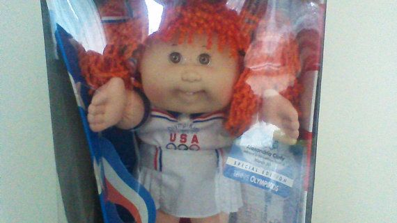 Vintage Cabbage Patch Doll Girl 1996 Olympics Tennis Etsy Vintage Cabbage Patch Dolls Cabbage Patch Dolls Adoption Papers