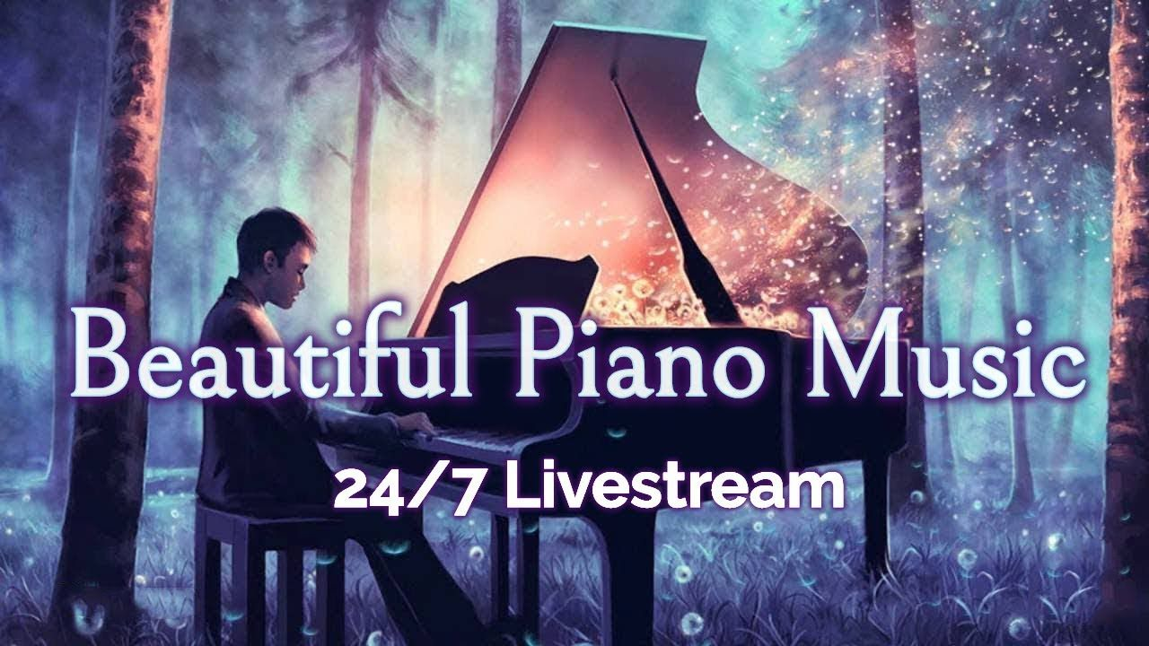 Beautiful Piano Music Live 24 7 Instrumental Music For Relaxation Study Stress Relief Youtube Relaxing Music Dream Music Piano Music