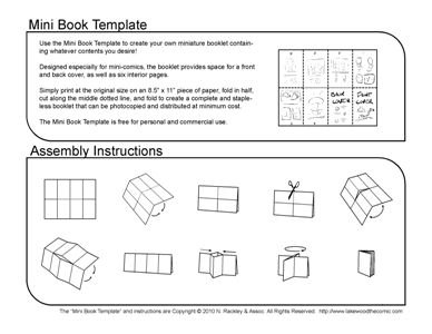 Mini-Comic Book Template--goes w lit circle projects | Mini books ...