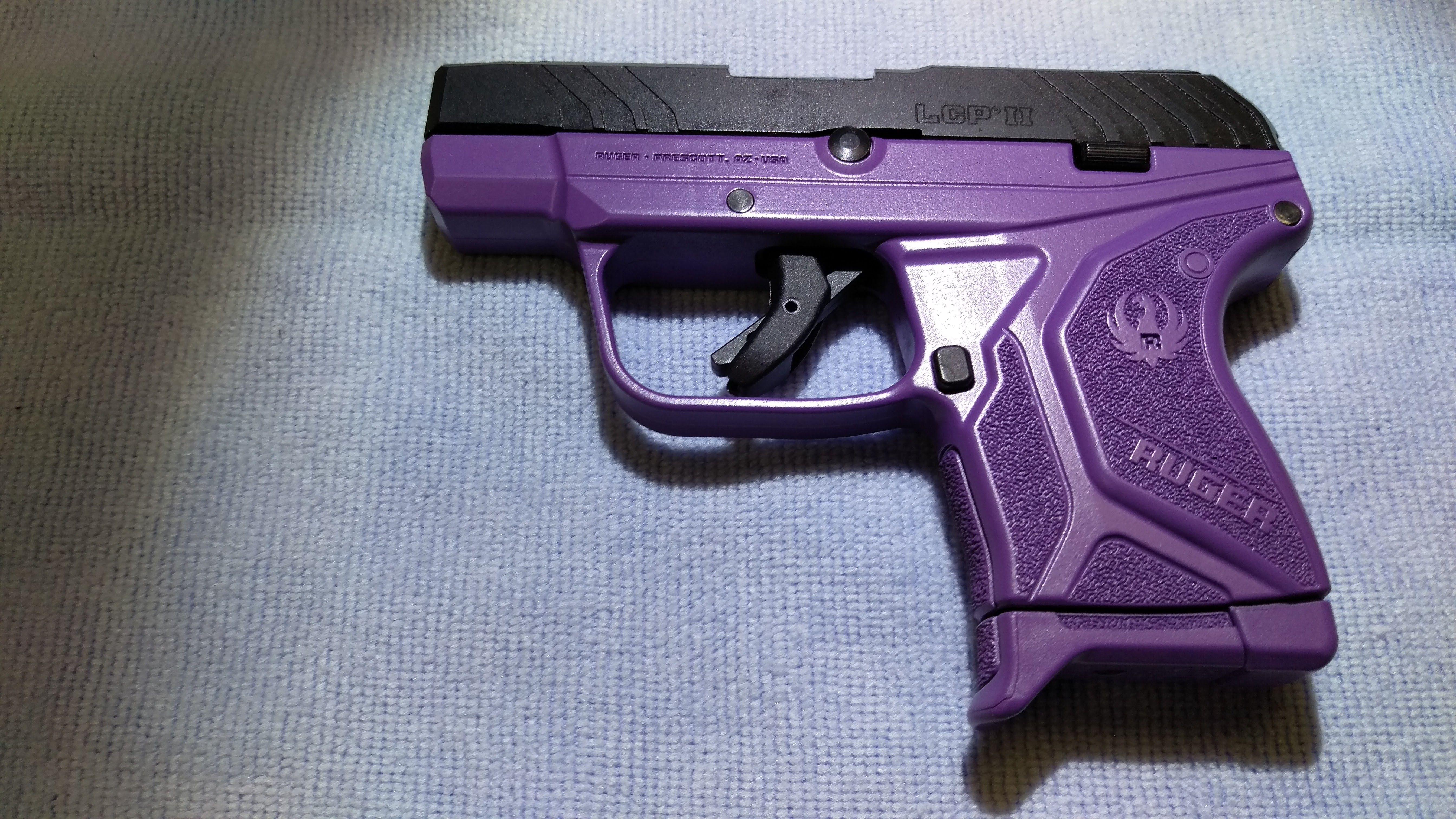 Lcp2 in purple tactical shooting hand guns girl guns