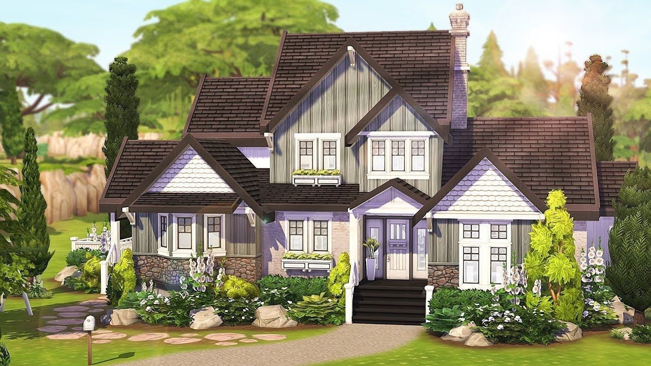 Foster Home The Sims 4 Speed Build In 2020 Sims 4 House Design Sims House Sims