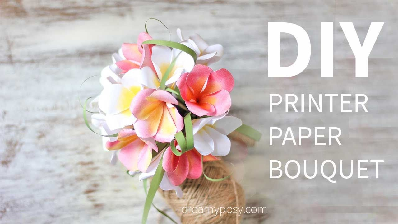 Super Fast Easy Diy Paper Bouquet Of Plumeria Flower Made From
