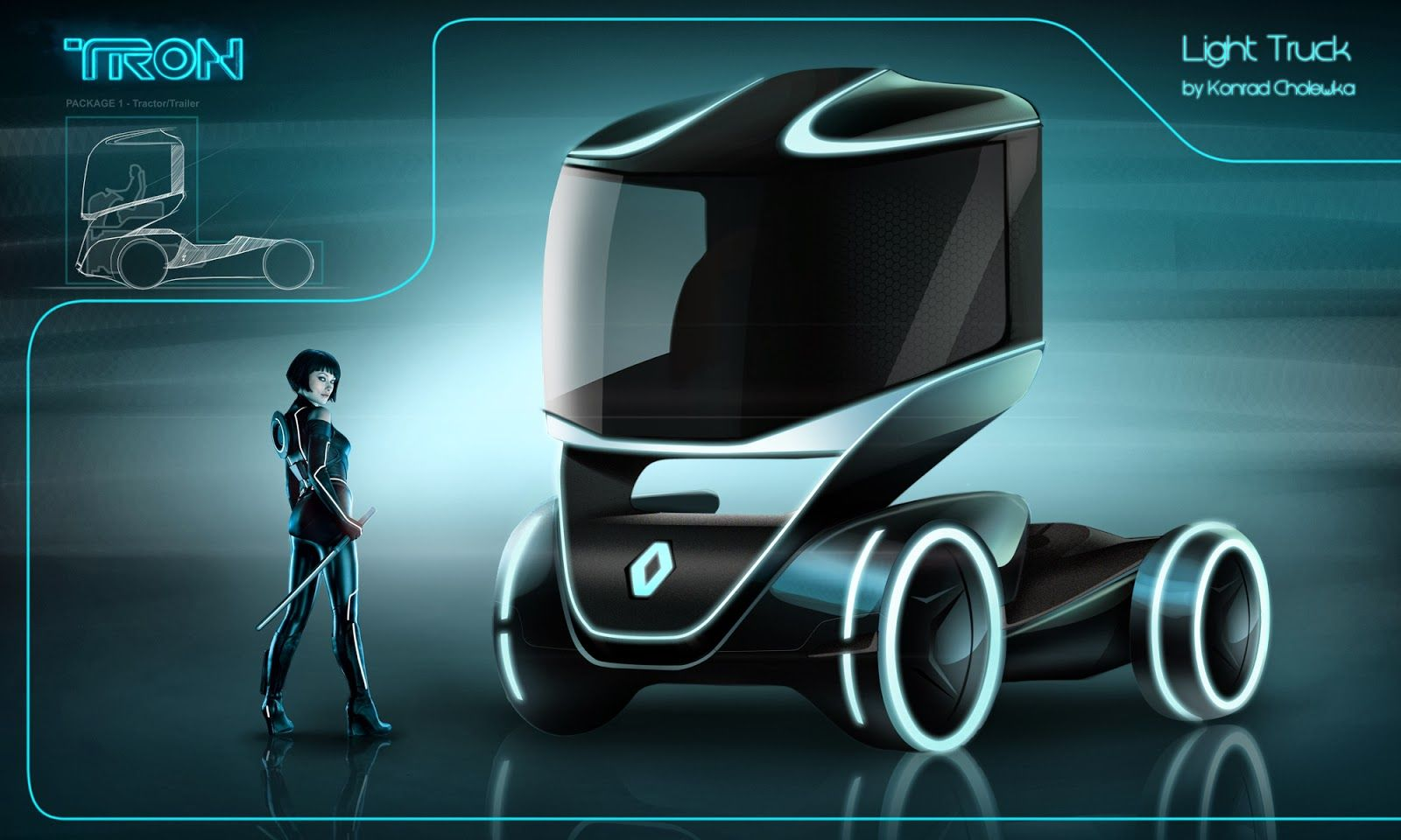 Image Result For Tron Truck Truck Design Electric Truck Concept Design