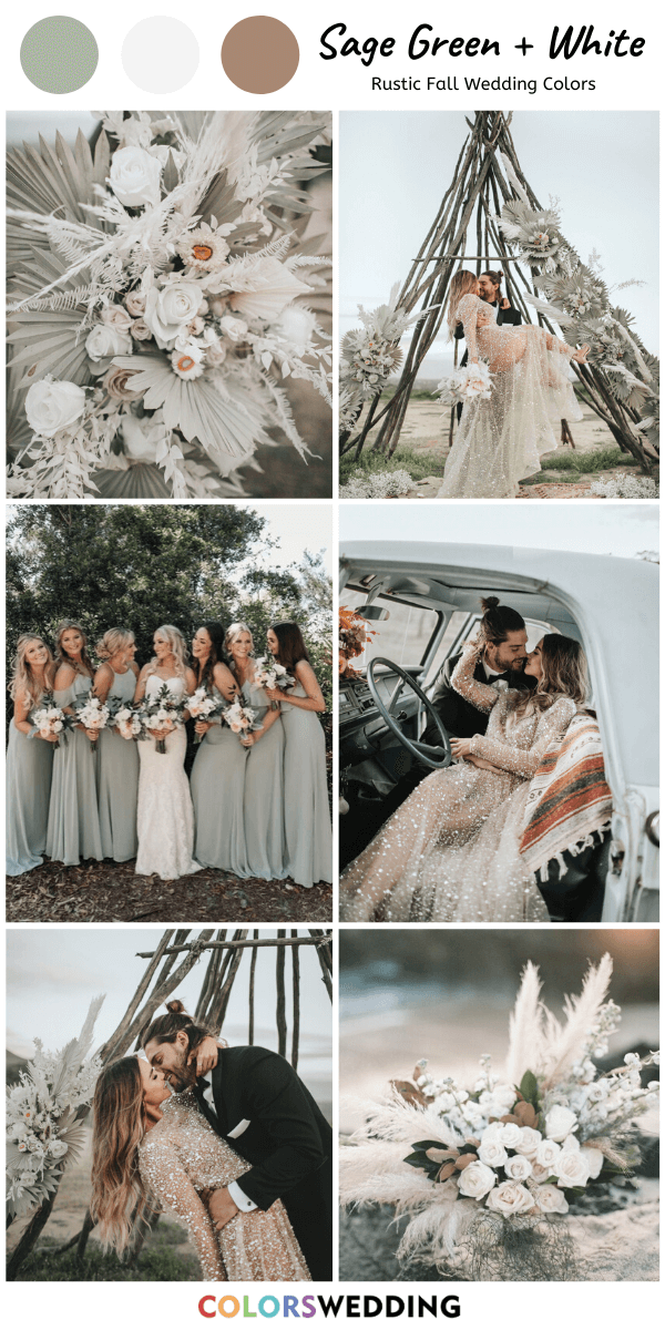 Top 8 Rustic Fall Wedding Color Ideas