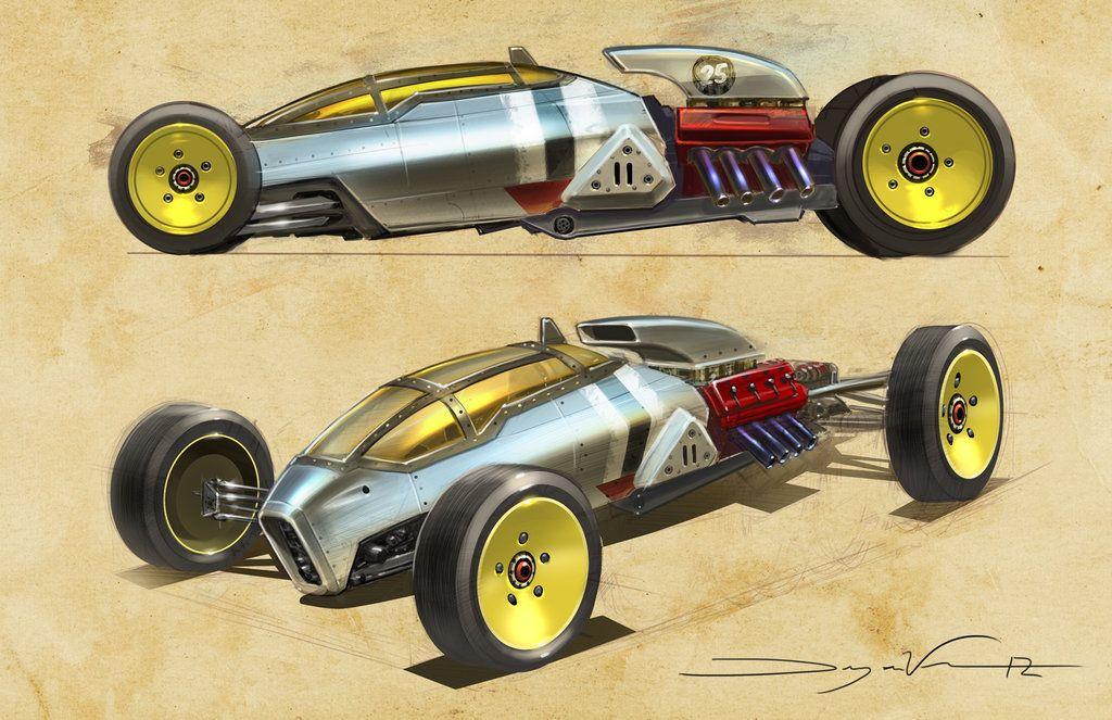 Bonneville Salt Flats race concept by Dwayne Vance