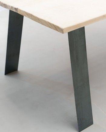 Pieds de table en metal style industriel Déco Salon Pinterest