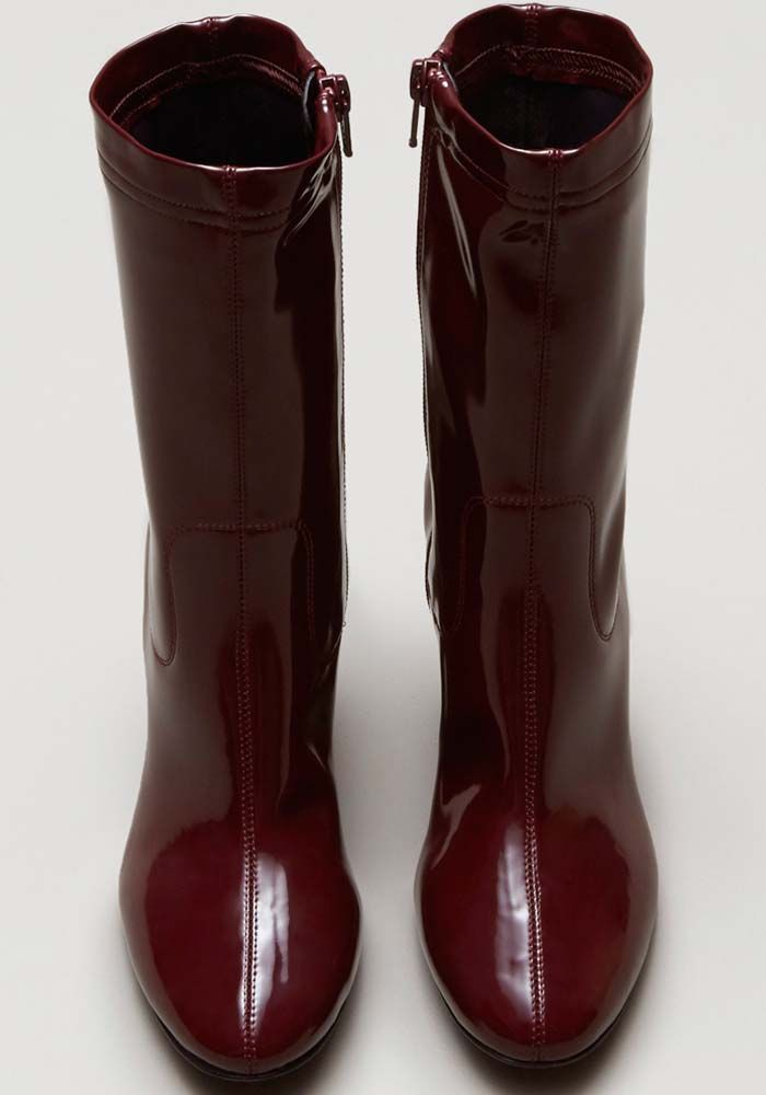 Kenneth Cole Krystal Patent Leather Boot Boots Patent Leather Boots Patent Leather Shoes