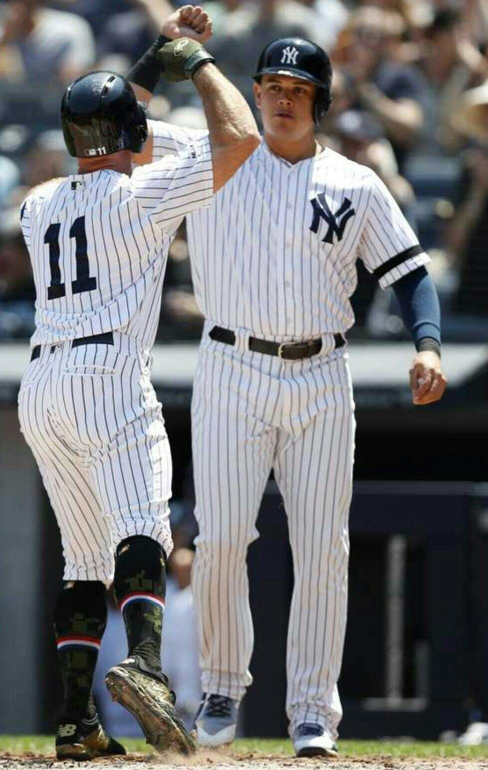 Brett Gardner And Gio Urshela New York Yankees Ny Yankees Allen Iverson