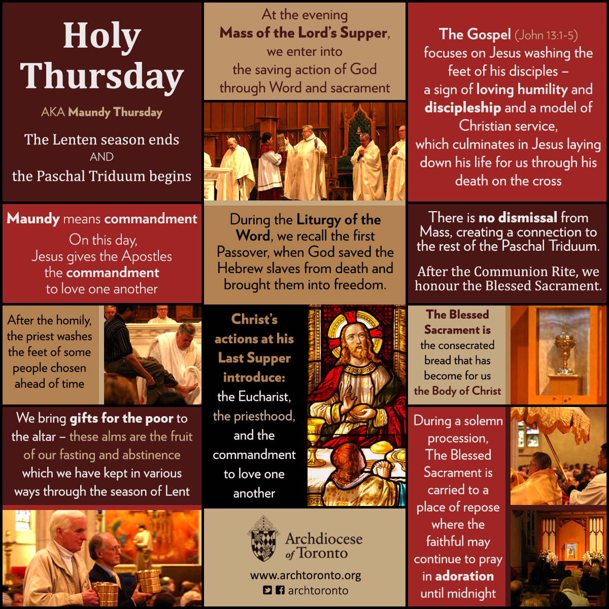 On Holy Thursday We Celebrate The Mass Of The Lord S