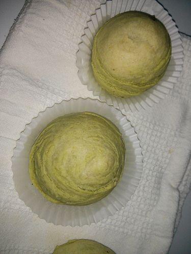 Green Tea Spiral (Thousand Layer) Cake with Red Bean Paste ~ 綠茶,紅豆千層酥 | matchamochi