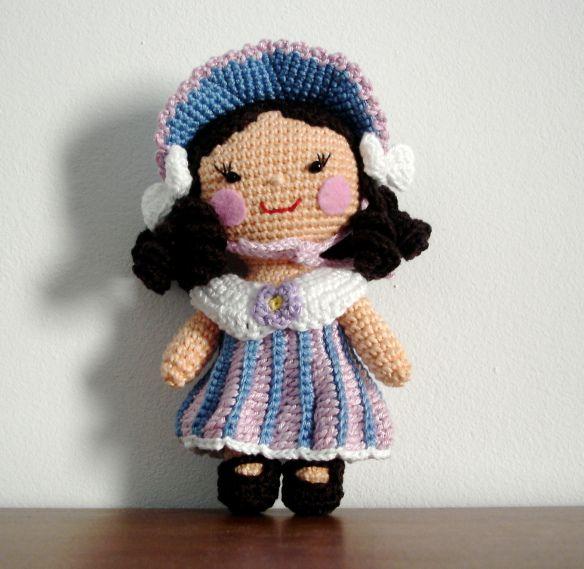 un pezzo della bambola - fiore ragazza part2 - come fare i vestiti - modello gratuito