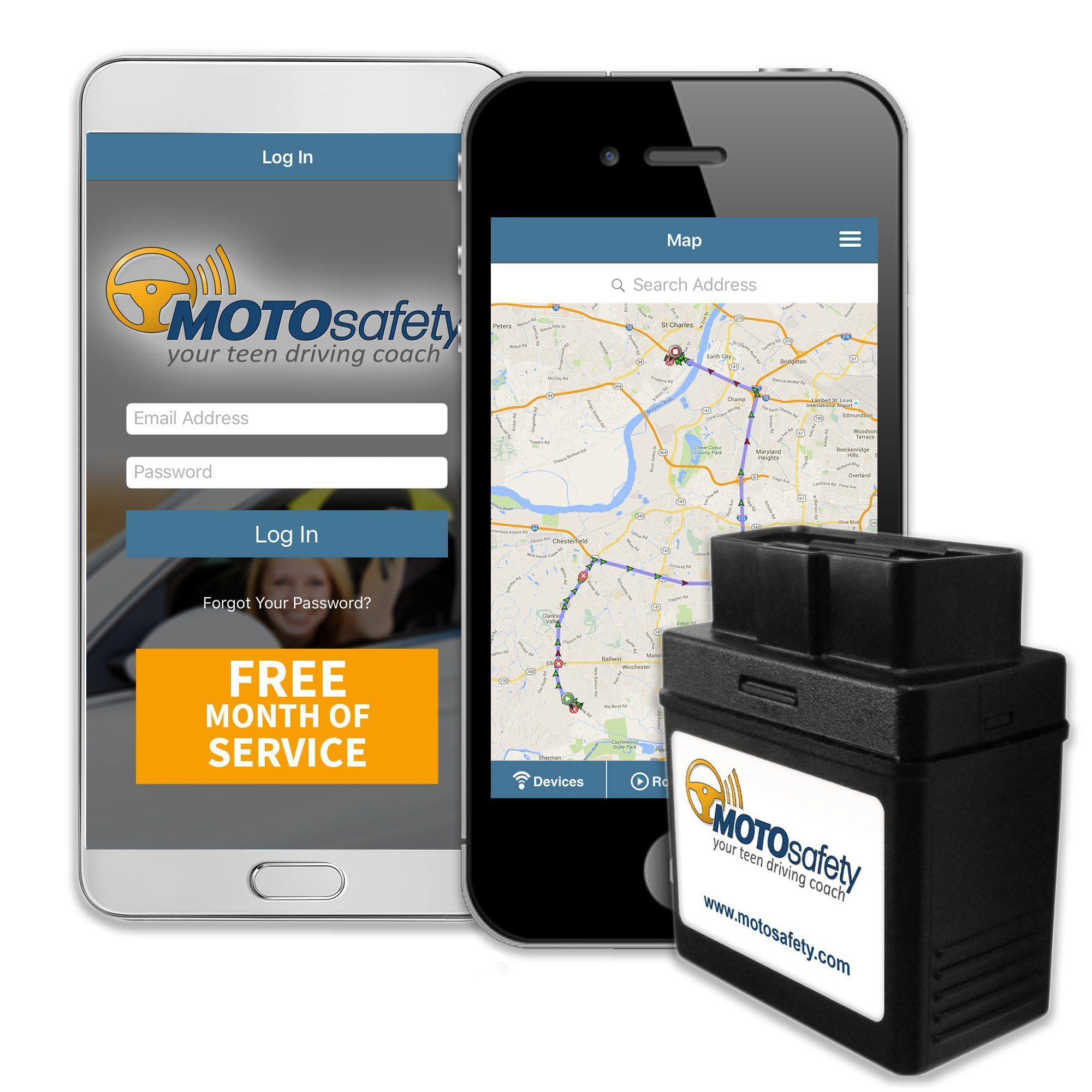 MOTOsafety OBD 3G Car Tracker with FREE Month of Service