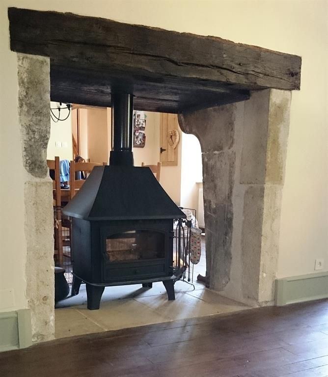 Double Sided Wood Burners In Cottage Google Search Living Room