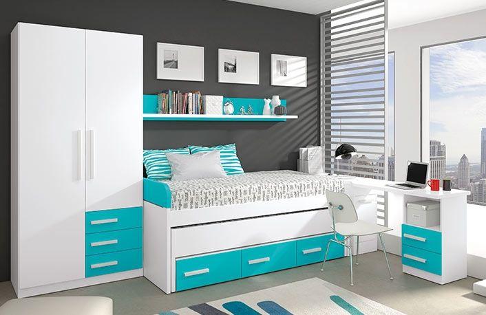 Dormitorios juveniles modernos venta online muebles boom - Habitaciones blancas juveniles ...
