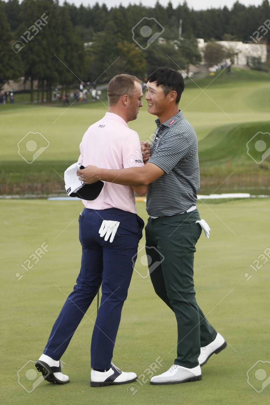 Oct 20 2019 Jeju South Korea Justin Thomas And Danny Lee Action