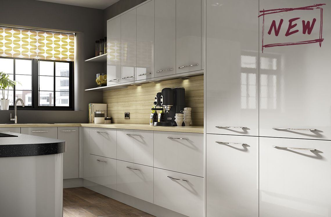 Best This Cool Grey Gloss Kitchen Is The Height Of Fashion And 400 x 300