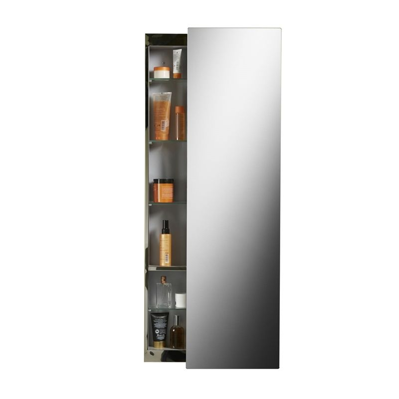 Croydex Alvy Tall Sliding Door Cabinet Stainless Steel At Homebase Co Uk