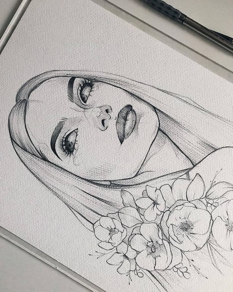 She S Beautiful This Is The Kind Of Art Drawing That Will