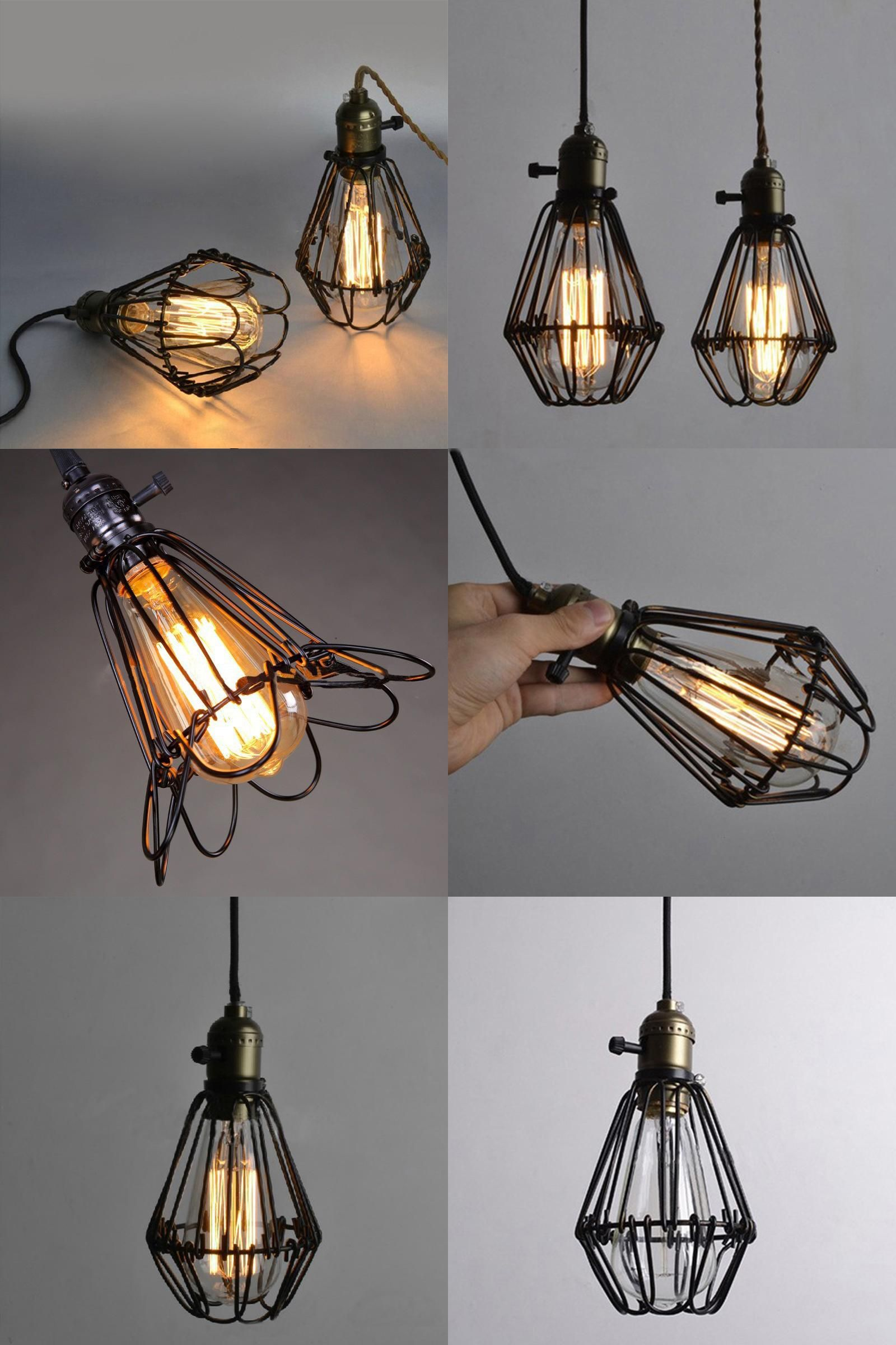 Visit To Buy Frled Fashion Vintage Wire Lamp Cage Diy Lampshade