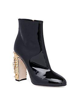 e92062e5765f Dolce   Gabbana - Clock-Heel Patent Leather Booties