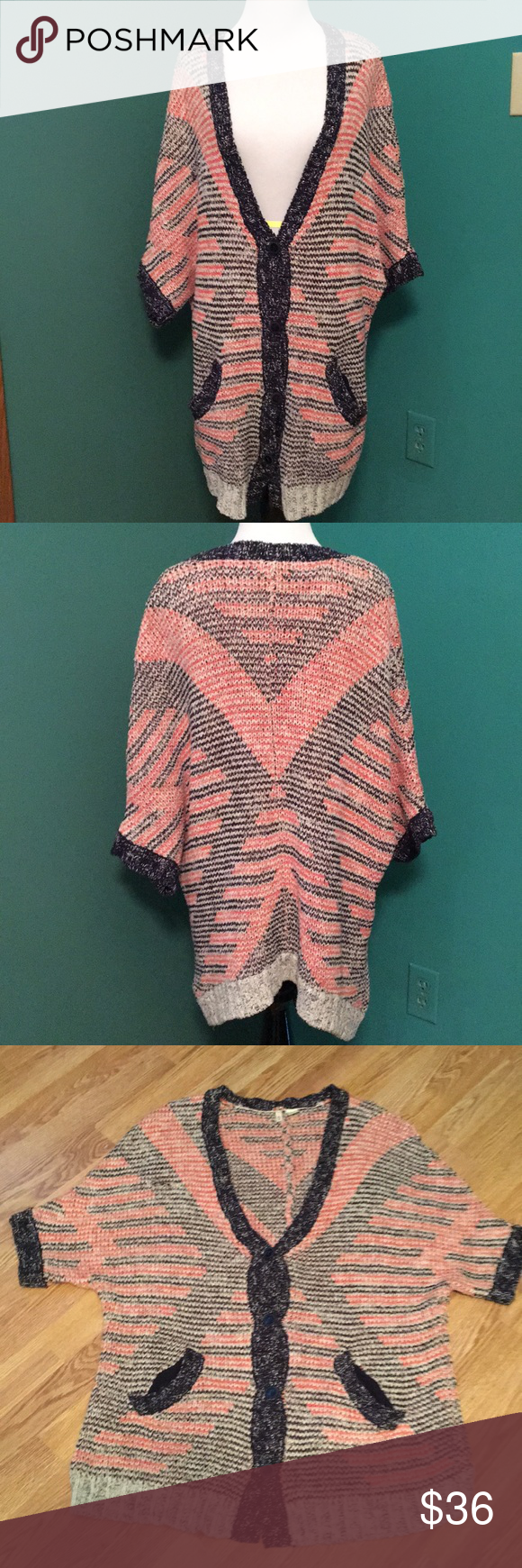 Anthropologie Moth cardigan sweater | Short sleeve sweater