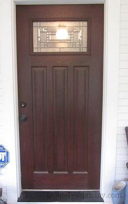 Front Door Fiberglass Door Doors Staining Wood