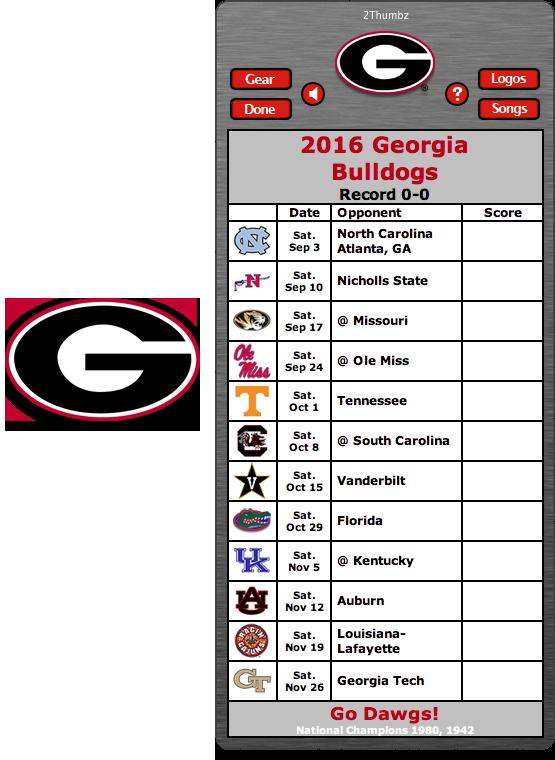 Get your 2016 Bulldogs Football Schedule Widget