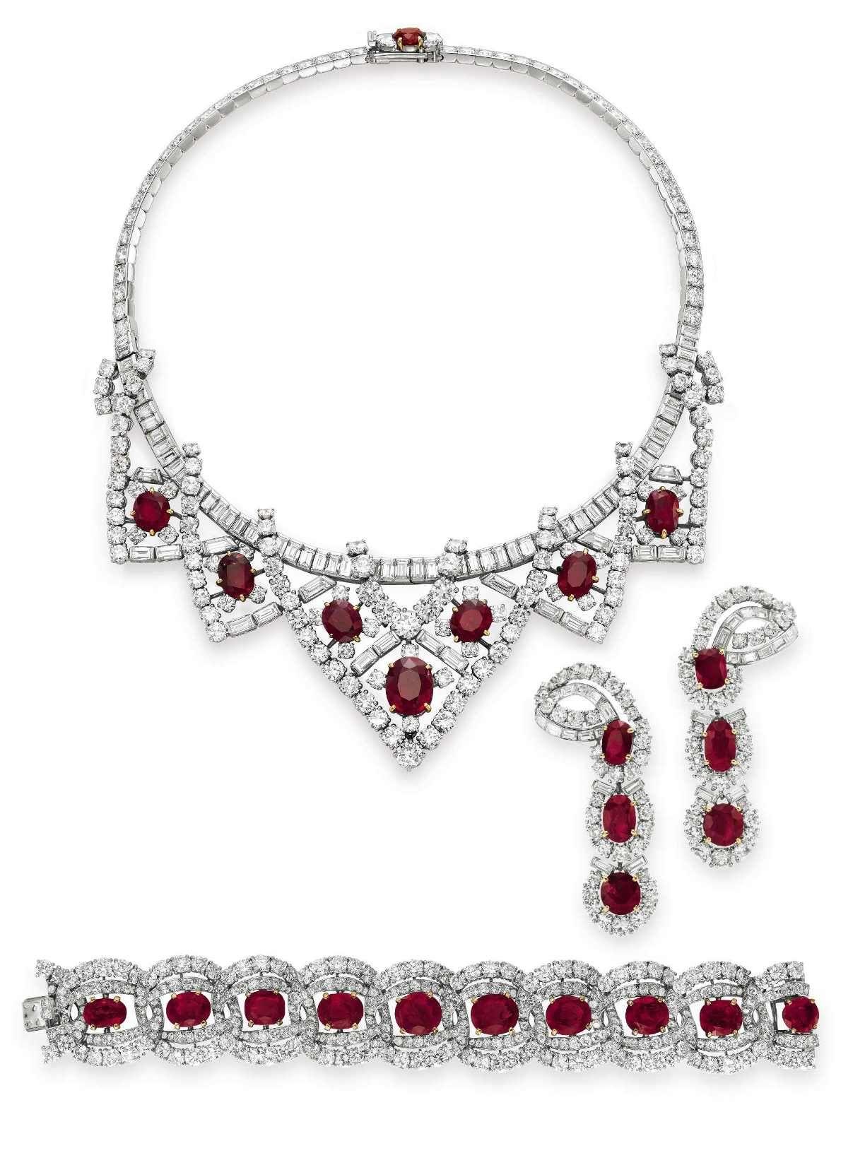 Juego de rubíes y diamantes de Cartier. Regalo de Michael Todd en ...