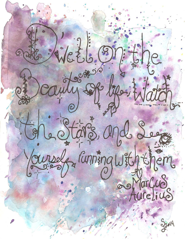 Marcus Aurelius Quote art print 8.5 x 11 by LittleShopofArt