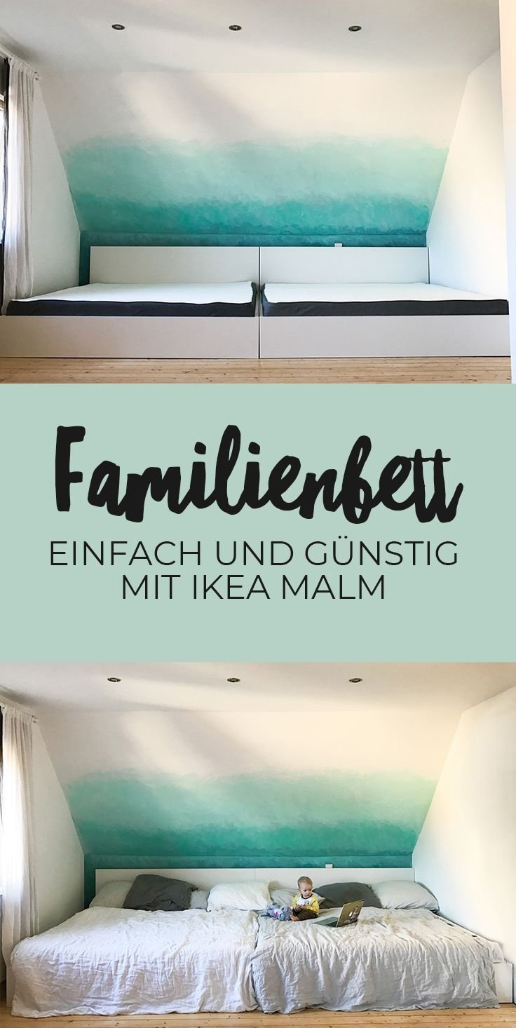 Projekt großes Familienbett XXL | Bauanleitung für ein Familienbett  Malm Ikea | Do it Yourself | Ikea Hack | Co Sleeping | Familienleben | Elternschlafzimmer | Bett | Liegewiese | Bedürfnisorientiert leben | Ideen für das Schlafzimmer | Bett für die ganze Familie | Tipps | Selbstbauen | bauen selbst | Bauanleitung | Anleitung | Beistellbett | Schlaftraining | Baby Schlaf | Babyschlaf