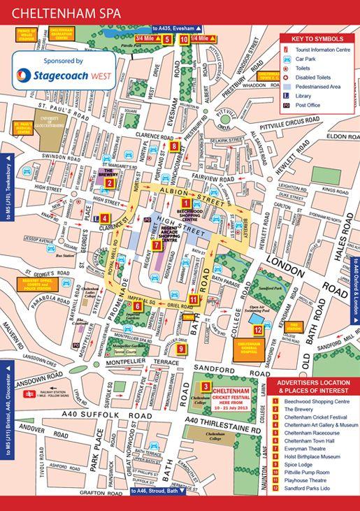 Street map of Cheltenham Spa 3rd Year Pinterest Cheltenham spa