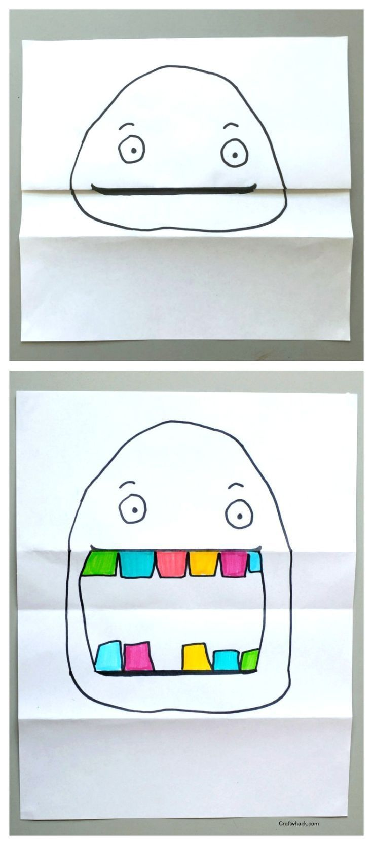 Gefaltetes Papierprojekt • Craftwhack.com #paperprojects