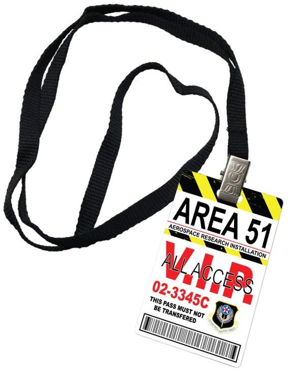Area 51 All Access Novelty ID Badge Prop Costume #area51partyoutfit