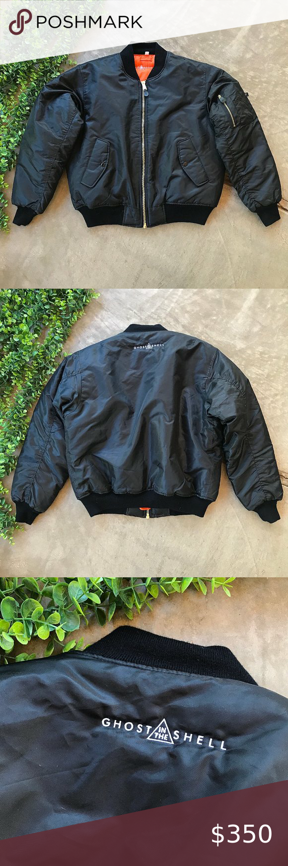 Ghost In The Shell Black Puffer Bomber Jacket Black Leather Bomber Jacket Black Puffer Bomber Jacket [ 1740 x 580 Pixel ]
