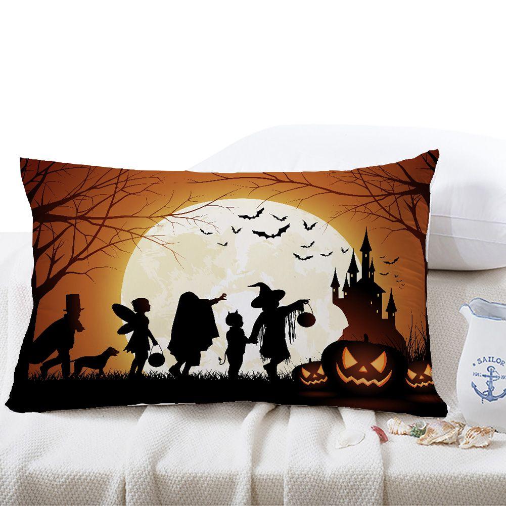 20* 20cm Halloween Pillow Cover Pumpkin Cotton Pillowcases Home ...