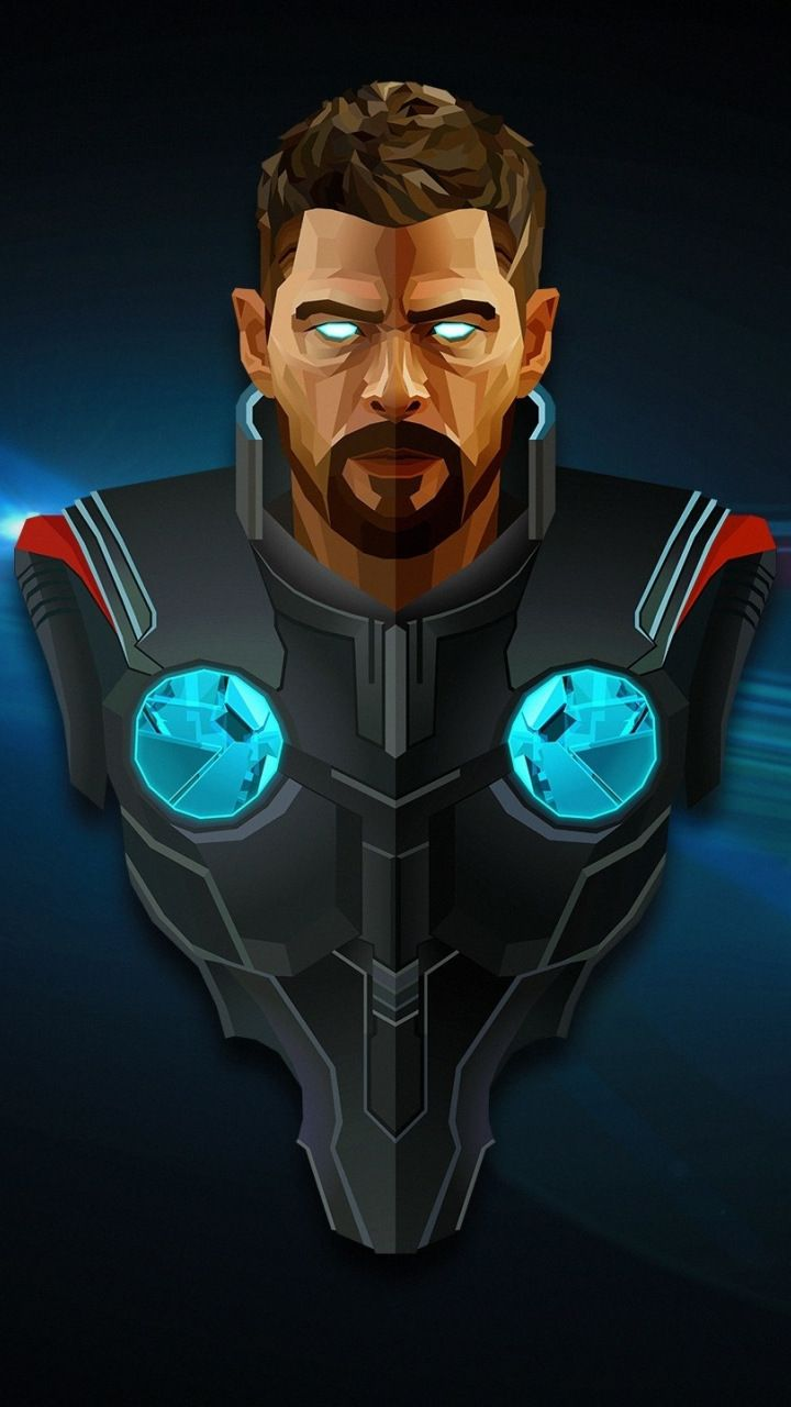 Thor Superhero Avengers Infinity War Minimal Artwork 720x1280