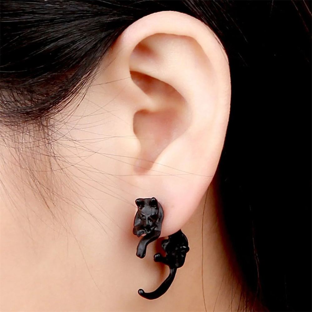 Cute Lovely Leopard Cat Piercing Earring Best Offer Clip